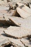 Gebarsten Aarde, Dode Overzees Jordanië Royalty-vrije Stock Foto's