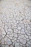 Gebarsten aarde in droge woestijn Royalty-vrije Stock Fotografie