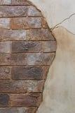 Gebarsten Bakstenen muur Royalty-vrije Stock Fotografie