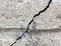 Gebarsten beton Royalty-vrije Stock Fotografie