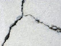 Gebarsten beton royalty-vrije stock foto