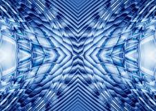 Gebarsten blauw stock illustratie