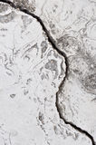 Gebarsten cement Royalty-vrije Stock Afbeeldingen