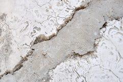 Gebarsten cement Royalty-vrije Stock Afbeelding