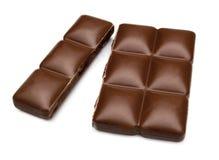 Gebarsten Chocoladereep Royalty-vrije Stock Afbeeldingen