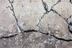Gebarsten concrete oppervlakte Stock Afbeelding
