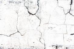Gebarsten concrete oud terwijl muurachtergrond Royalty-vrije Stock Foto