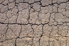 Gebarsten droge grond Stock Foto