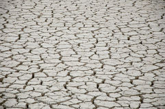 Gebarsten en droge aarde in de woestijn Royalty-vrije Stock Fotografie