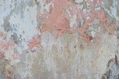 Gebarsten en oude de muurachtergrond van de schilverf Klassieke grunge stock foto's