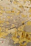 Gebarsten Gele Oppervlakte Stock Afbeeldingen