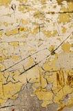 Gebarsten Gele Oppervlakte Stock Afbeelding