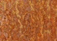 Gebarsten geschilderde oude metaaltextuur Geroeste oppervlakte Royalty-vrije Stock Foto
