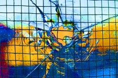 Gebarsten glas Stock Fotografie