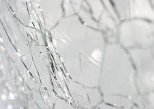 Gebarsten glas stock foto