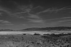 Gebarsten grond bij de zoute vlakten van het Nationale Park van de Doodsvallei, Californië Royalty-vrije Stock Fotografie