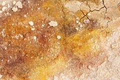 Gebarsten grond dichtbij mudpot Stock Afbeelding