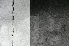 Gebarsten grunge cementmuur Royalty-vrije Stock Foto's