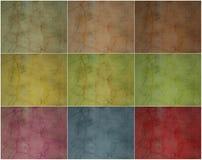 Gebarsten het pleistermuur van de inzameling smokey vector illustratie