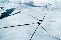 Gebarsten ijs Royalty-vrije Stock Afbeeldingen