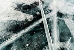 Gebarsten ijsachtergrond royalty-vrije stock foto
