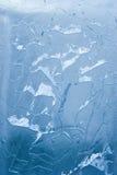 Gebarsten ijsoppervlakte (achtergrond, textuur) Royalty-vrije Stock Foto's