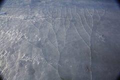Gebarsten ijstextuur Stock Afbeeldingen