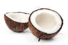Gebarsten kokosnoot Royalty-vrije Stock Afbeelding