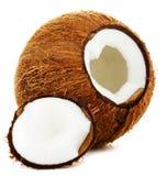 Gebarsten kokosnoot Royalty-vrije Stock Foto's