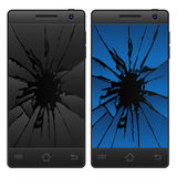 Gebarsten Mobiele Telefoon Stock Foto's