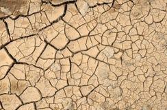 Gebarsten modder. stock foto