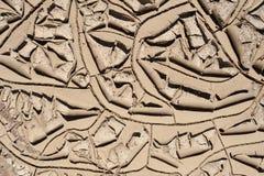 Gebarsten modder in de Woestijn royalty-vrije stock fotografie