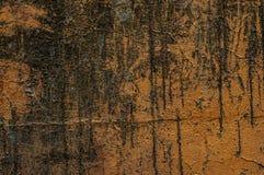 Gebarsten muur met de oude achtergrond van verftextiure Royalty-vrije Stock Foto's