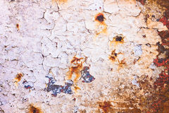Gebarsten roestige oppervlakte Stock Afbeeldingen