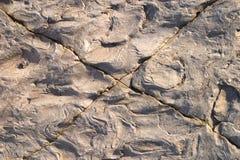 Gebarsten steentextuur Stock Afbeeldingen