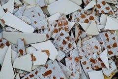 Gebarsten tegels Royalty-vrije Stock Afbeelding