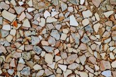 Gebarsten tegels Stock Foto's