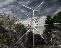 Gebarsten venster Royalty-vrije Stock Afbeeldingen