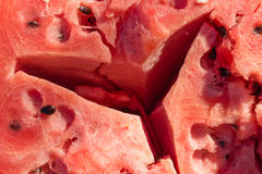 Gebarsten watermeloen Natuurlijk vegetarisch voedsel Stock Foto