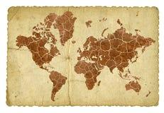 Gebarsten wereld Stock Foto's