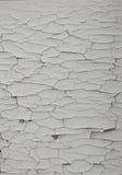 Gebarsten Witte Verf Stock Afbeelding