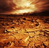 Gebarsten woestijngrond Royalty-vrije Stock Fotografie