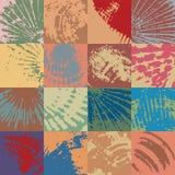 Gebaseerd Shells, organische lapwerkassemblage in pastelkleuren Stock Fotografie
