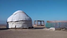 Gebeëindigde en onvolledige yurts stock videobeelden