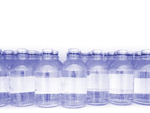 Gebeëindigde medische producten in flesjes met plaats voor uw verslagen Stock Afbeelding