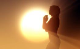Gebed. vector illustratie