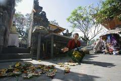 Gebed in Bali Royalty-vrije Stock Foto