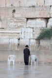Gebed bij de loeiende muur Jeruzalem, Israël Royalty-vrije Stock Foto
