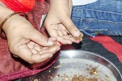 Gebed Indische manier Stock Afbeelding