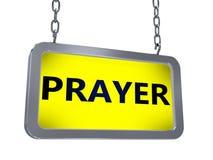 Gebed op aanplakbord vector illustratie
